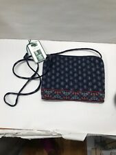 Vintage Vera Bradley Navy Paisley Small String Cross body Purse NWT