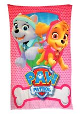 Paw Patrol 'Rescue' Girls Panel Fleece Blanket Throw Brand New Gift