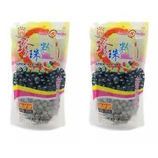 New! 2 x Bags BOBA Black Tapioca Pearl Bubble Ready in 5 minutes 8.8 oz per bag
