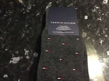 New Tommy Hilfiger Pack of 2 Pairs Men's Trouser Socks One Size - Grey Logo