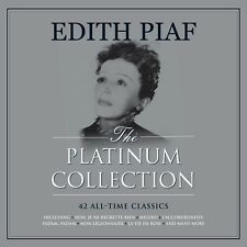 Edith Piaf PLATINUM COLLECTION Best Of 42 Songs NEW WHITE COLORED VINYL 3 LP
