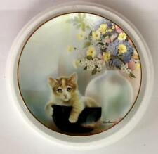 Cup of Trouble by Ruane Manning Kitten Cousins-Danbury Mint Collector Plate