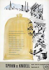 Chemische Fabrik Spohn Knoell Freiburg XL Reklame 1956 Säcke Gewebe staubdicht
