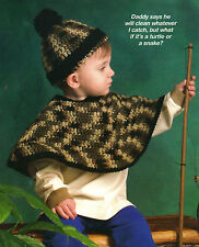 CUTE Toddler Poncho /& Hat//Crochet Pattern INSTRUCTIONS ONLY