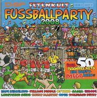 Fussballparty 2008 - Fetenkult 2 CD NEU Jürgen Drews Kolibris Wolfgang Petry
