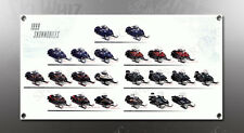 VINTAGE YAMAHA 1999 SNOWMOBILES IMAGE BANNER NOS IMAGE REPRODUCTION