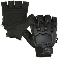 New Valken Paintball Airsoft Half Finger Gloves Protection Black - Medium/Large