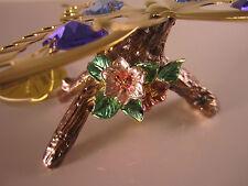 SCHMETTERLING mit Swarowski Kristallen Bestückt Gold Plattiert Neu BUTTERFLY