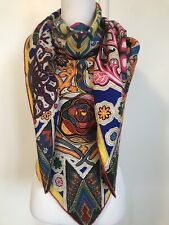 """Authentic NWT Hermes Cashmere Silk L' Arbre Du Vent Scarf Stole Shawl 56""""/140 cm"""
