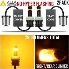 Alla Lighting 7507 Turn Signal Light Blinker Bulb Amber Yellow,No Hyper Blinking