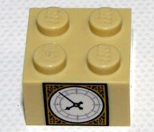 LEGO NEW TAN 2 X 2 Big Ben BRICK CLOCK PATTERN TIME PIECE