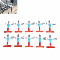 Rabbit Poultry Chicken Automatic Water Drinking Nipples Feeder Tool Set 10Pcs