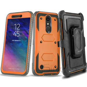 Shockproof RUGGED Clip Stand Holster Phone Case Cover +BUILT-IN SCREEN PROTECTOR