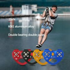 New listing Outdoor Pulley For Climbing Rigging Hauling Caving Zip Line Cable Trolley 25KN