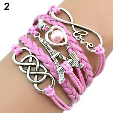 SALE Fashion Leather Charm Bracelets 11 different Styles US Seller Fast Shipping