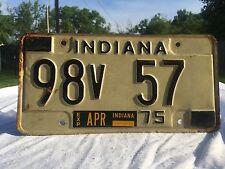 Vintage Indiana License Plate Hot Rat Rod Decor 1975