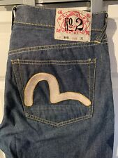 Rare 2001 vintage EVISU No 2 Lot 0001 Mens Jeans, size 32 - Loose Fit