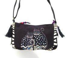 LAUREL BURCH Mythical Friends Small Crossbody Shoulder Bag ~ Polka Dot Gatos