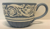 50% OFF!  RARE   Arabesque  Wedgwood Ornate Blue And White Relief 250th Ann. Cup