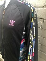 VINTAGE Adidas Jacket XL TRACK TOP Black Multicoloured Men's Casuals
