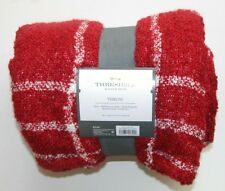 NEW NWT Threshold Throw Red White 50 X 60 inches Blanket