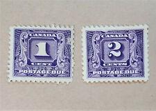CANADA SET OF 2 POSTAGE DUE 1930-32 STAMPS - 1 & 2 ¢ - SC# J6 & J7 - MNH - [200]
