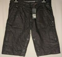 """MEN'S INDUSTRIE COLLATERAL CARGO SHORTS BLACK SIZE 34"""" INSEAM 12"""" NWT RRP $59.95"""