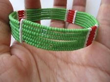 Women's Bracelet bright summer colors Tribal Seed beads handmade one of kind