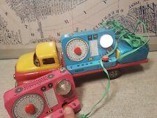 (See Video) MASUDAYA / Modern Toys Communication Truck with Astronaut -Working-