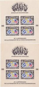 1940 Honduras Pan-American Union souvenir sheets perf and imperf MNH