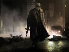 Gangster Mobster Hat Tommy Gun Night Art Outlaw Poster 28x40 inch
