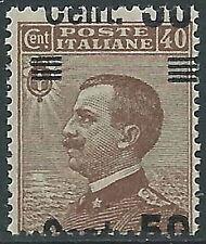 1923-27 REGNO EFFIGIE SOPRASTAMPATO 50 SU 40 CENT VARIETà MNH ** - P47-9
