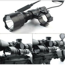 Tactical C8 Q5 800 LUMEN 3 Modes Torch FOR AIR RIFLE/RIMFIRE HUNTING LAMP/LIGHT