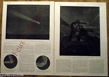 Document photo Cométe de Halley telescope Jean MAscart astronomie  1910 print