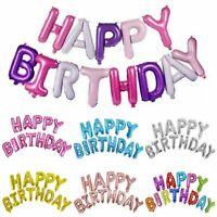 """16"""" Happy Birthday Balloons Banner Foil Balloons Bunting Self Inflating Alphabet"""