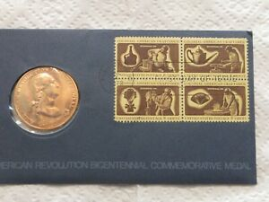 LOT #6Z, 1972 FIRST DAY COVER AMERICAN REVOLUTION BICENTENNIAL AND MEDAL