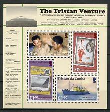 Tristan da Cunha 2018 MNH Tristan Venture 70th Anniv 4v M/S Boats Ships Stamps