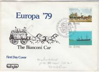 eire ireland 1979 fdc the bianconi car horse carriage stamps cover ref 20337