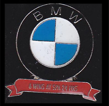 BMW  - 4 Wins at Spa 24hrs Lapel Pin Badge - View Advert