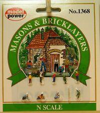 NIB N Model Power #1368 Masons & Bricklayers 10 Pc Set