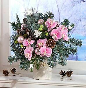 Weihnachtsgesteck Weihnachtsstrauß Orchideen Strauß Advent Winter Weihnachten