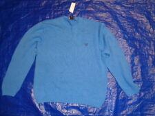 Vintage Izod Nwt Blue Sweater Size Large 100% Cotton Fast Ship
