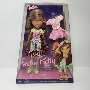 Bratz FEELIN PRETTY SASHA Doll SUPER RARE New Sealed HTF MGA NRFB Free Poster