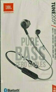 + JBL TUNE 205BT Bluetooth In-Ear-Kopfhörer - Schwarz * NEU * Rechnung +