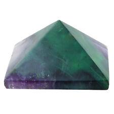 Purple & Green Fluorite Quartz Healing Gemstone Pyramid Point Stone Home Decor