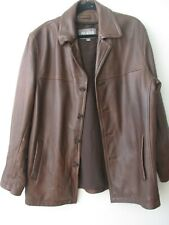 WILSONS LEATHER DARK BROWN SOFT LEATHER LONG SLEEVE JACKET SIZE L