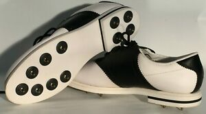 FootJoy FJ Brand White Black Athletic Womens Size 7.5 Wide Golf Cleat Shoes