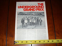 MULLHOLLAND DRIVE STREET ROAD RACING CAFE RACER - ORIGINAL 1974 ARTICLE