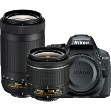 Nikon D5300 24.2MP DSLR Camera Two Lens Kit w/ AF-P 18-55mm VR & 70-300mm (1579)