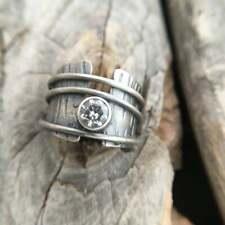 Fashion Women 925 Silver Rings Jewelry White Sapphire Retro Wedding Ring Size 8